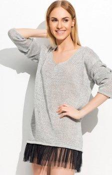 Makadamia S36 sweter szary