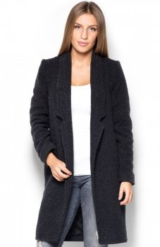 Katrus K406 płaszcz czarny
