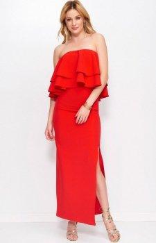 Makadamia M399 sukienka czerwona