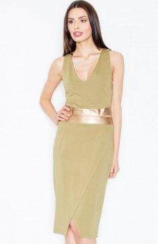 Figl M439 sukienka zielona
