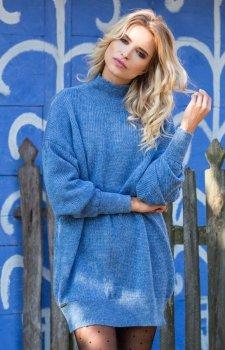 Fobya F574 sukienka niebieska