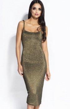 Dursi Charme sukienka złota