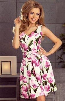 *Numoco 160-4 sukienka w kwiaty