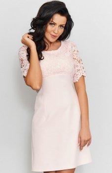 *Roco 0205 sukienka pudrowy róż