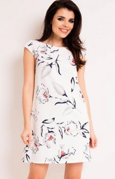Awama A164 sukienka ecru