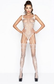 Passion BS034 bodystocking białe