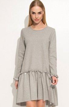 Makadamia M336 sukienka szara