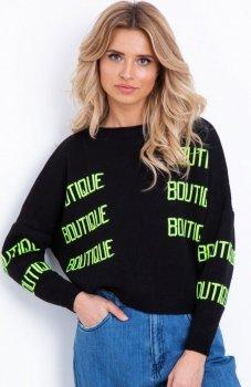 Fobya F623 sweter z napisami neonowymi