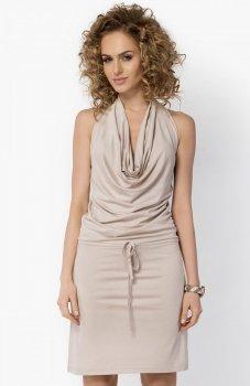Makadamia 023 sukienka beżowa