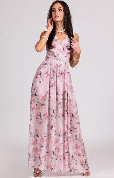 Kwiatowa sukienka maxi D07