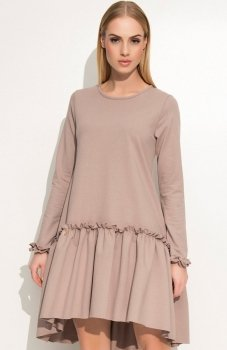 Makadamia M336 sukienka cappucino