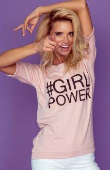 Knits K144 bluzka z napisem Girl Power