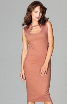 Lenitif K475 sukienka brązowa