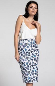 Nommo NA268 spódnica niebieski wzór
