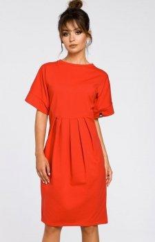 BE B045 sukienka czerwona