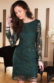*Roco 0122 sukienka zielona