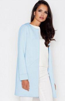 *Figl M366 płaszcz niebieski