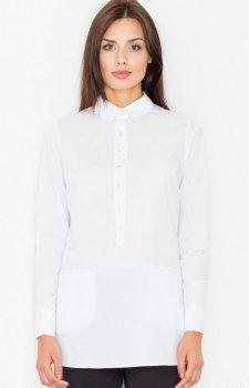 Figl M493 koszula biała