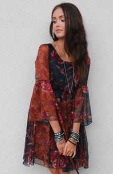 Roco 216 sukienka kwiatowy wzór