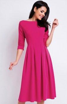 Awama A159 sukienka różowa