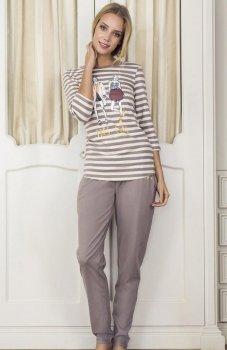 Esotiq Dotty 33536-02X piżama mocca