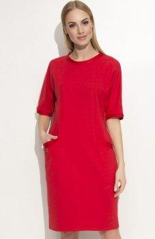 Makadamia M339 sukienka czerwona