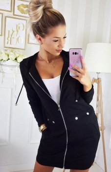 Carmel bluza z kapturem czarna