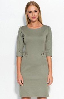 Makadamia M325 sukienka oliwkowa
