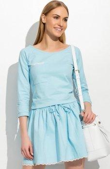 Makadamia M314 sukienka błękitna
