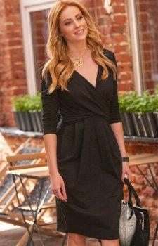 *Makadamia M463 sukienka czarna