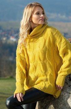 Fobya F616 sweter musztardowy