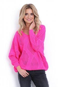 Fobya F626 sweterek różowy neon