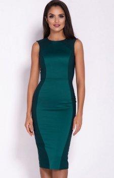 Ołówkowa sukienka Lara zielona