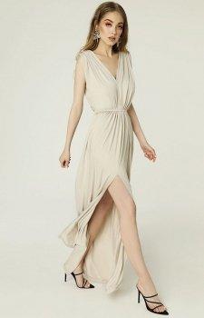 Sukienka Maxi rzymianka Greta jasnobeżowa