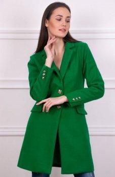 Wiosenny płaszcz zielony Roco 008