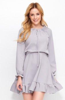 *Makadamia M384 sukienka szara