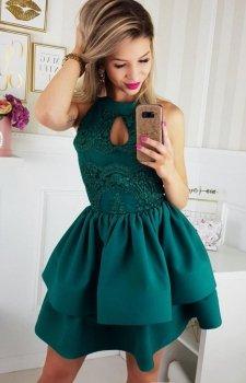 Bicotone 2116-13 sukienka zielona