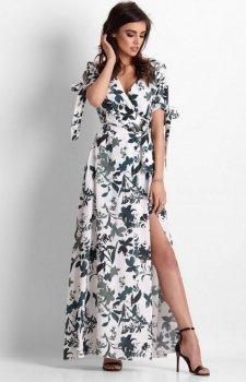 Długa sukienka w kwiaty Milagros