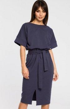 BE B062 sukienka niebieska
