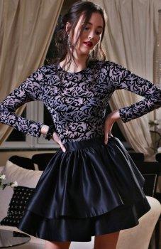 Roco 0176 sukienka szaro-czarna