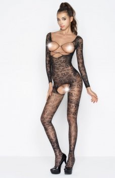 Passion BS031 bodystocking czarny
