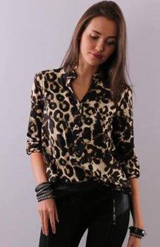 Roco 0049 koszula ciemna panterka