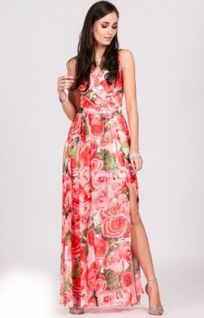 Kwiatowa sukienka maxi D33