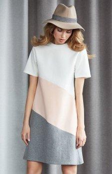 Moe M373 sukienka brzoskwiniowa