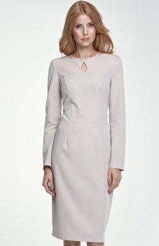 Nife S79 sukienka beżowa