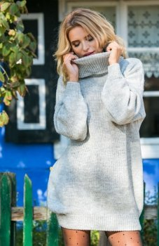 Fobya F577 sweter szary