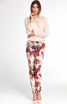 Nife SD33KW spodnie w kwiaty