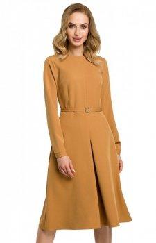Sukienka M398 musztardowa Moe