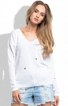 FIMFI I253 sweter biały