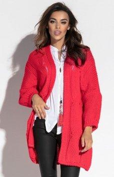 Fobya F569 sweter czerwony